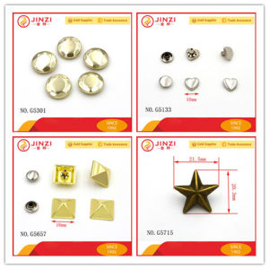 Fancy Shapes Metal Pop Rivet for Bag Shoes Jeans Parts pictures & photos