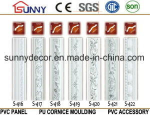 Home Decoration Polyurethane Foam Crown Molding/ PU Cornice Moulding pictures & photos