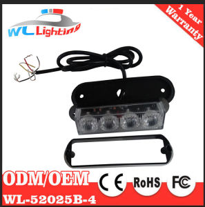 12/24V 4 LED Strobe Surface Mount Warning Light Amber Flashing Light pictures & photos