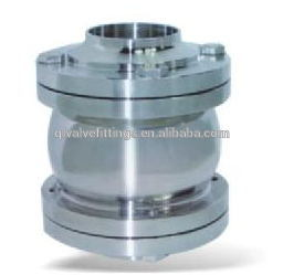 Sanitary Stainless Steel Flange Non Return Check Valve pictures & photos
