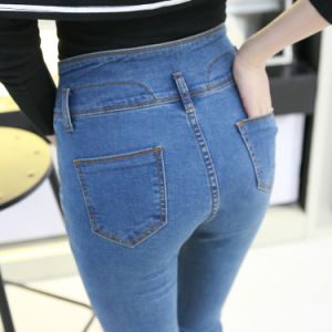 Wholesale Fashion Skinny Tight Cotton Ladies Denim Jeans pictures & photos