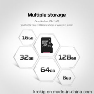 1-128GB Class 10 Micro SD Flash Memory Card with DIY Logo pictures & photos