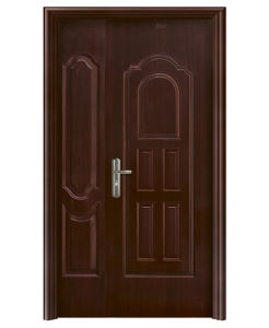 Luxury Doulbe Steel Security Door for Hotel Gfm003 pictures & photos