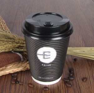 Hot Paper Cup/ Ripper Wall Coffee Paper Cup/ Disposable Double Wall Paper Cups Green Cup pictures & photos