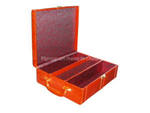Decorative Gift Package Red Recycled Leather Wine Box (FG8015) pictures & photos