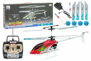 3CH Mini RC Helicopter With Gyro, Metal Frame, USB Charger and Flashing Light (SCIH8004-1)