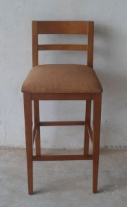 Good Design Wood Cheap Used Bar Stools with Fabric Seat and Back (BC-030) pictures & photos