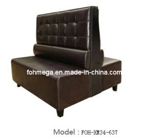 Coffee Shop Restaurant Double Sides Leather Booth (FOH-XM34-637) pictures & photos