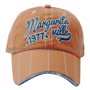 Heavy Washed Embroidery Sandwich Cotton Twill Baseball Sport Cap (TMB0343) pictures & photos