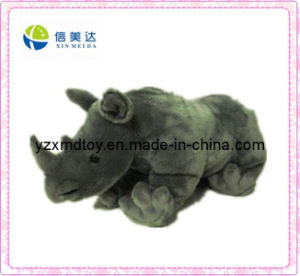 Plush Toy Grey Soft Rhinoceros Toy (XMD-F001) pictures & photos