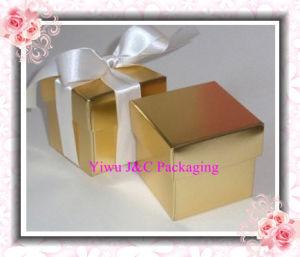 2PC Shiny Gold Wedding Favor Boxes (JCO-115D)