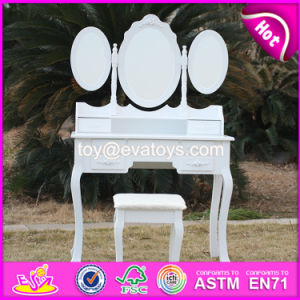 New Design Youth White Folding Wooden Dressing Table W08h076 pictures & photos