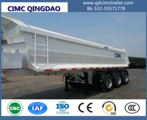 Cimc Construction Hydraulic Side Tipping Box Dumper / Semi Tipper Trailer Truck Chassis pictures & photos