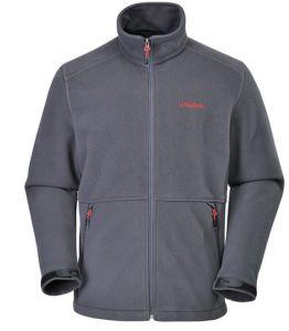 Mens High Collar Zip up Black Polar Fleece Jacket pictures & photos