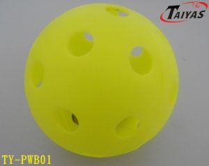 PE White and Yellow and Blue Wiffle Ball