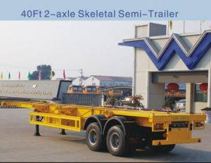 2-Axle 40ft Skeletal Container Semi Trailer