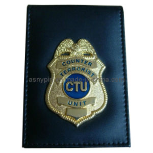 New 3D Police Badge with Leather Wallet (AS-CZ-PB-06070059) pictures & photos