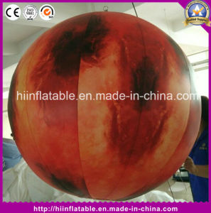 Factory Price Sun, Mars, Saturn Solar System Inflatable Nine Planet Balloon Inflatable Planet with LED Light pictures & photos