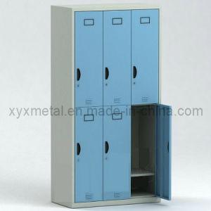 Six Doors Steel Structure Knock Dwon Metal Storage Locker pictures & photos