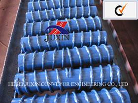 DIN Standard Belt Conveyor Rubber Spiral Idler Roller pictures & photos