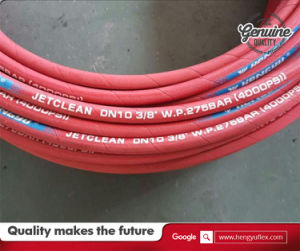 High Pressure Jet Washing Hose with Wire Braid for Cleaner pictures & photos