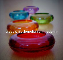 Machine-Made Colorful Glass Candle Holder (ZT-10) pictures & photos