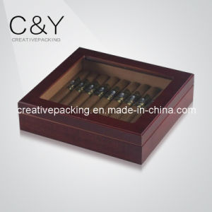 Matte Finish Wooden Cigar Display Box for 20 Counts Cigars pictures & photos