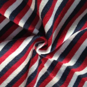 Hemp/Cotton Yarn Dyed Colorful Stripe Jersey pictures & photos