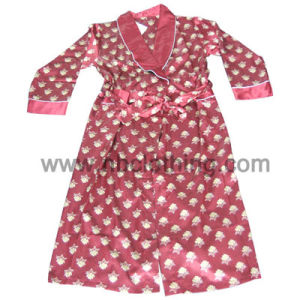 Ladies Cotton Polyester Brushed Satin Gowns