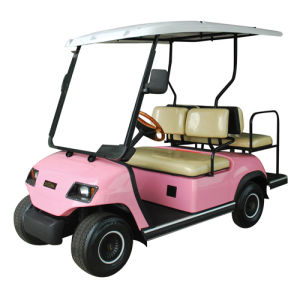 Pink 4 Seaters Electric Golf Cart (Lt-A2+2) pictures & photos