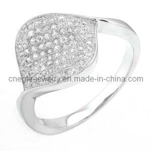 Fashion 925 Sterling Silver CZ Finger Ring Jewelry