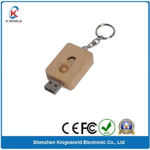 Wood Sliding USB Flash Drive with Free Keyring