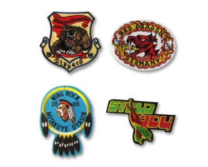 A02 Embroidered Badges with Cutting Border pictures & photos