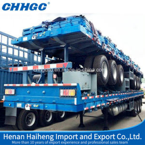 Flat Bed Container or Bulk Cement Transport Trailer pictures & photos