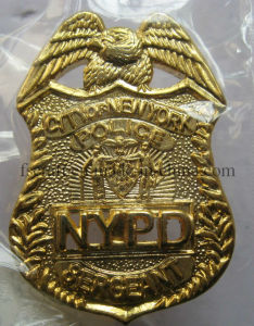 Gold Metal Pin Badges Police Badges Military Badges Officer Badges pictures & photos
