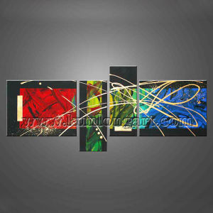 Colorful Modern Art Abstract Canvas Painting (KLMA4-0039)