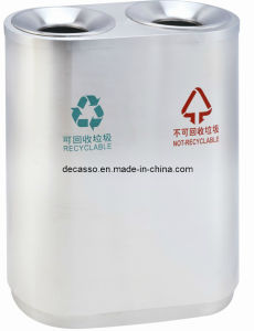 Stainless Steel Classified Trash Can for Public Place (DL68) pictures & photos