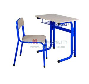 Single Student Desk and Chair for University Classroom Furniture with Metal Frame pictures & photos
