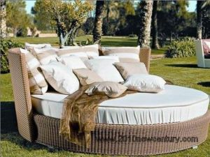 Rattan Furniture/Garden Furniture/Wicker Furniture/Outdoor Furniture/Chaise Lounger (5004)
