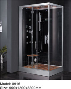 Luxurious Glass Computerized Bathroom Sauna Steam Shower Room (0916)