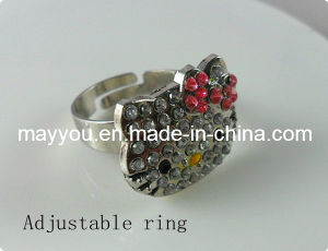 Fashion Jewelry-Hello Kitty Crystal Ring pictures & photos