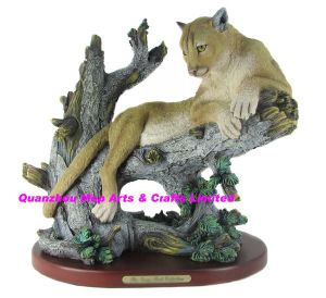 Polyresin Mountain Lion Statue for Home Decoration pictures & photos