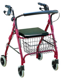 Aluminum Rollator with Seat and Wheels (FY966L) pictures & photos