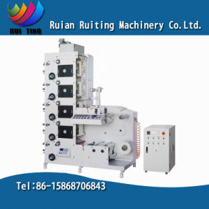 Rtry-320e 5 Color Narrow Web Flexo Printing Machine for Label pictures & photos