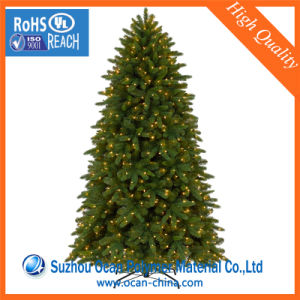 Green Color PVC for Christmas Tree Embossed PVC Foil pictures & photos