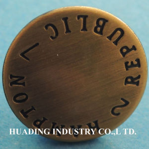 Fancy Logo Jeans Metal Button for Garment pictures & photos