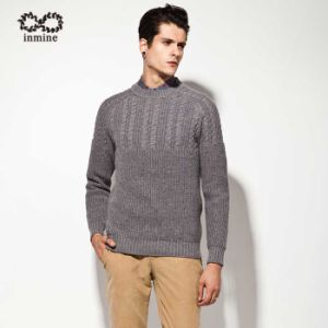 Manufactory Cable Knit Pure Colour Pullover Man Sweater pictures & photos