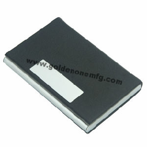 Hot Sale Black PU/Genuine Leather Credit Card Holder (BC43) pictures & photos