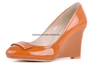 Bright Orange Wedges Women Shoes Popular Women Heel Wedge