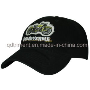 Applique Embroidery Print Embossed Snap Buckle Baseball Cap (TMB6347) pictures & photos